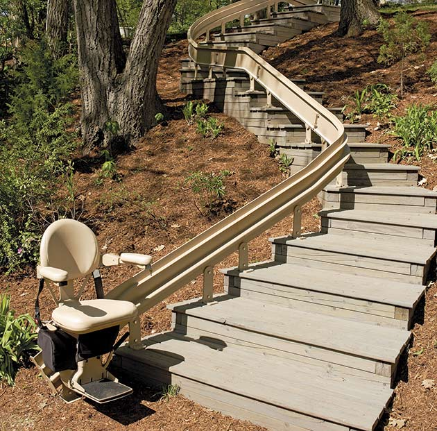 bruno curve outdoor sre2010e custom outside riverside Ca. stairchair