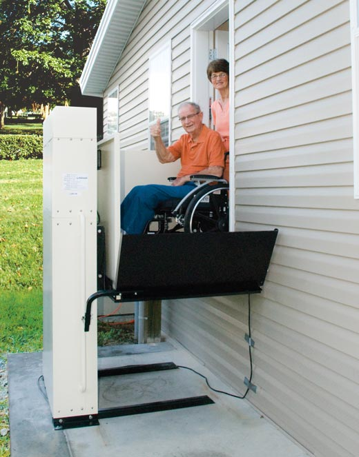 porch vertical platform vpl LOS ANGELES wheelchair lift