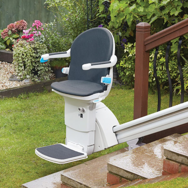 handicare 1000 outside exterior outdoor stair lift inland empire